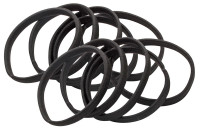 Scrunchies - Set of 12, black