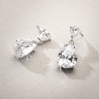 Stud Earrings - Cubic Zirconia Drop