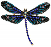 Broche - Blue Dragonfly
