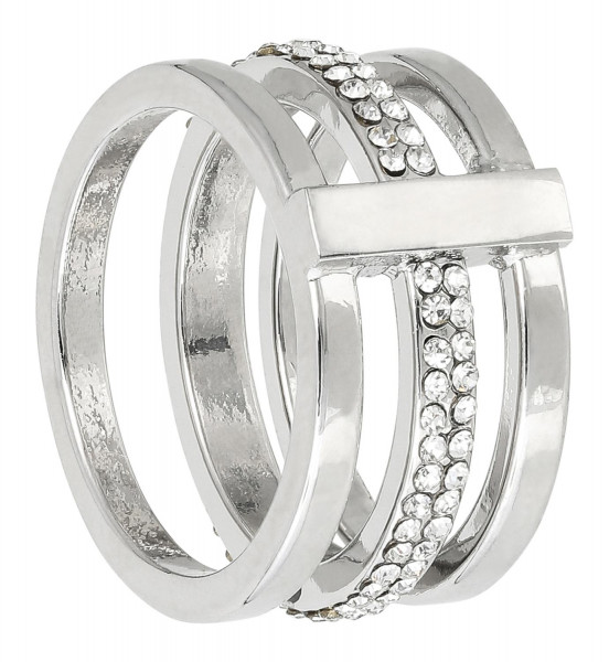 Ring - Three Silver Lines