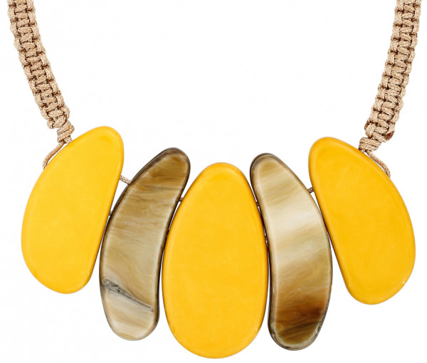 Collier - Yellow Coral