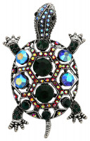 Broche - Crystal Turtle