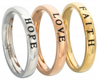 Set di anelli - Faith Love Hope