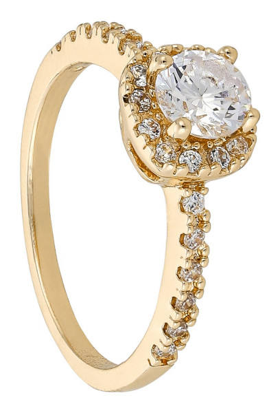 Anillo – Golden Zirconia