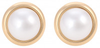 Ear Clips - Golden Pearl Duo