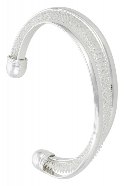 Breed armband - Open Silver