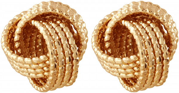 Stud Earrings - Gold Knot