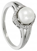 Ring - Silver Pearl