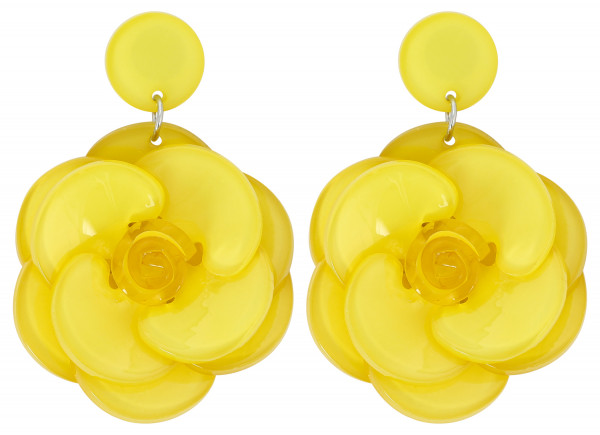 Boucles d'oreilles clips - Yellow Dream