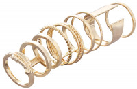 Ring Set - Golden Graphics