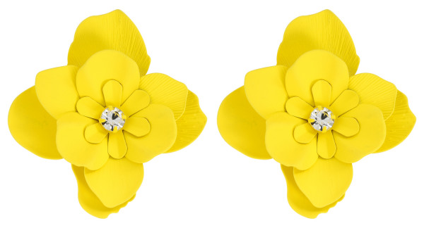 Pendientes - Bright Yellow Flower