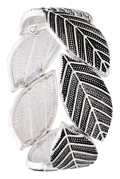 Armband - Silver Leaves