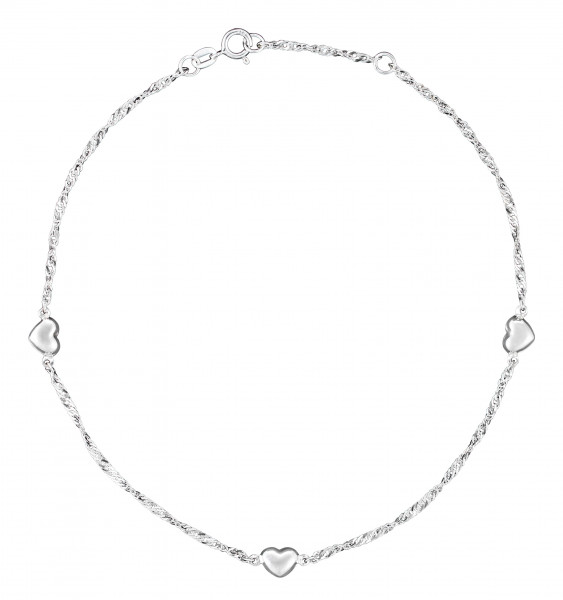 Anklet - Silver Hearts