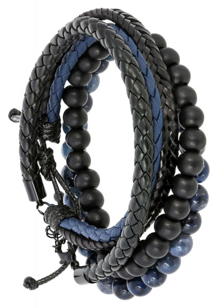 Set di bracciali - Blue Leather
