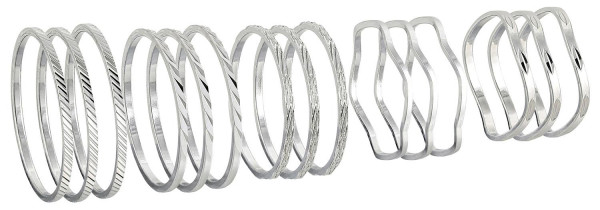 Mid-rings - Metal Silver