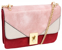 Tasche - Burgundy Snake With Gold Details