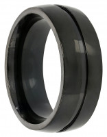 Herren Ring - Black Steel