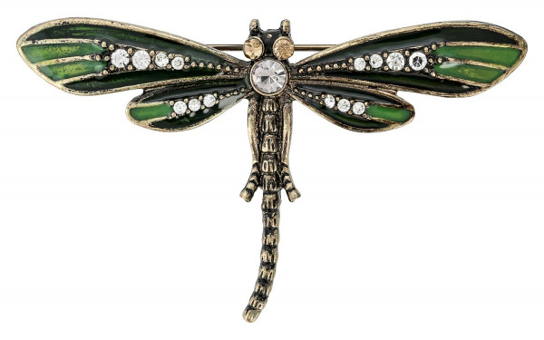 Broche - Green Dragonfly