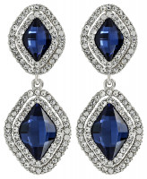 Orecchini a perno - Blue Diamonds