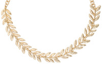 Collier ras du cou - Hammered Leaf