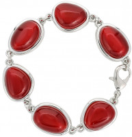 Armband - Red Cat Eye