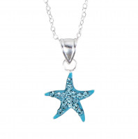 Necklace - Blue Starfish