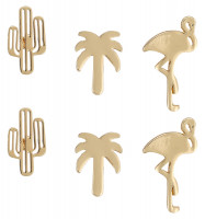 Conjunto de pendientes - Golden Flamingo