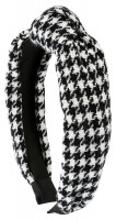 Cerchietto - Houndstooth Design