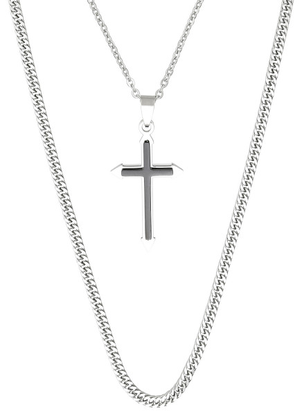 Collier pour hommes - Black Crossed