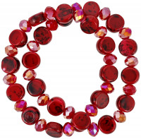 Set di braccialetti - Red Glass