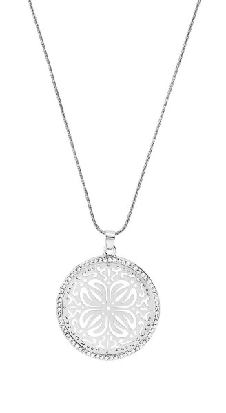 Necklace - Silvery Ornament