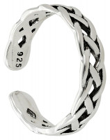 Anillo para dedos del pie - Braided Silver