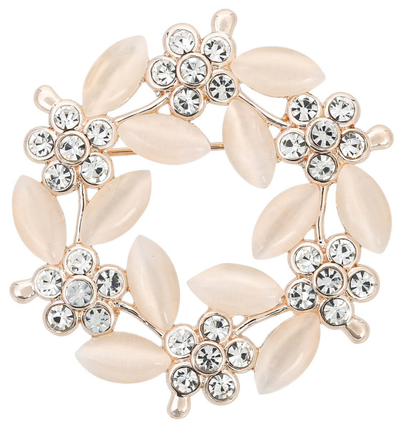Broche - Crystal Flower