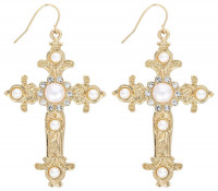 Orecchini a pendente - Golden Cross