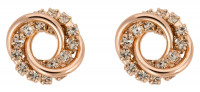 Stud Earrings - Twisted Roségold Glam