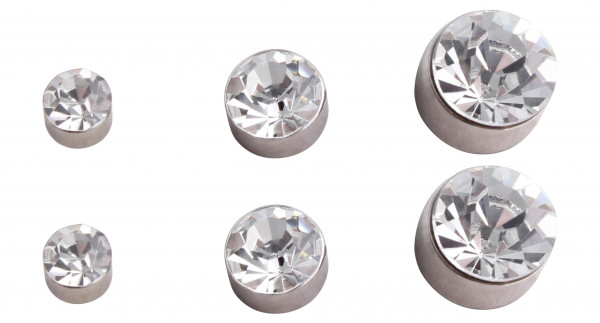 Stud Earrings - White Glitter