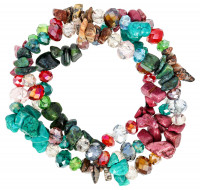 Armband - Colorful Howlite