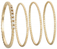 Ring-Set - Gold Knurl