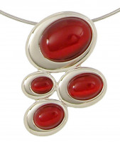 Chain - Cat's eye red