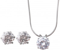 Set - Cubic zirconia white