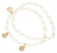 Armbanden set - White Pearls