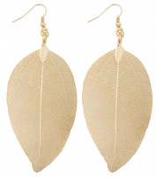 Pendant earrings - Leaf Gold
