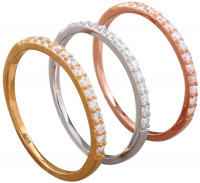 Ring - Set of 3 Tricolour