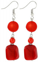 Oorbellen - Cute Red Coral