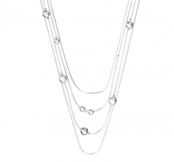 Necklace - Silver Dots