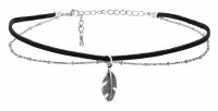 Choker - Black Feather