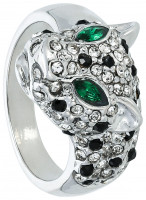 Ring - Silver Leopard