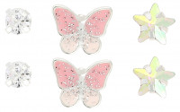 Ohrstecker-Set - Pink Butterfly