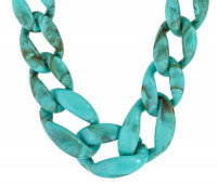 Ketting - Turquoise Marble