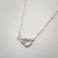 Ketting - Silver Infinity